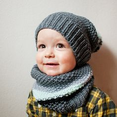 Seed stitch? hat and cowl - inspiration