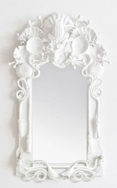 White shell mirror