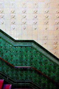 Tile work - Victoria Baths, Victoria Park, Manchester - England
