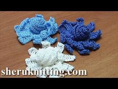 In this tutorial you will learn how to crochet a 3D 2-layer flower with long petals. In the center of the flower there is a big spiral. The flower is very ea...