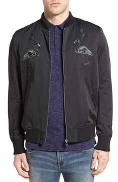 DIESEL J-Flam Embroidered Bomber Jacket. #diesel #cloth #