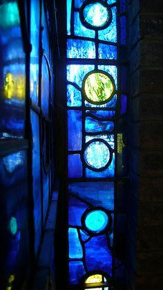 Churchill College Chapel - John Piper glass