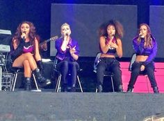 Little Mix at a festival in York yesterday (7.27.13)