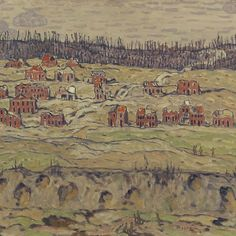 'Lorette Ridge, 1918 by A. Jackson' by classicartcache Canvas Art Prints, Oil On Canvas, Canvas Wall Art, Framed Prints, Battle Of Passchendaele, Ww1 Art, Canadian Artists, First World, Painting & Drawing
