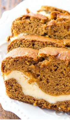Cream Cheese Filled Pumpkin Bread It& pumpkin season, and you& going to love this easy and delicious cream cheese filled pumpkin bread recipe. It& one of my favorite fall recipes! The post Cream Cheese Filled Pumpkin Bread appeared first on Jennifer Odom. Just Desserts, Delicious Desserts, Yummy Food, Easy Fall Desserts, Moist Pumpkin Bread, Pumpkin Bread Recipes, Breakfast Bread Recipes, Pumpkin Cheesecake Recipes, Autumn Bread Recipes