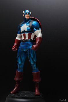 Captain America Metallic | Statue | Bowen Designs Marvel Comics