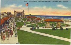 1940s Vintage Postcard Oceanfront Park and Bandsheel Daytona Beach Florida Vintage Postcard http://www.amazon.com/dp/B004PJWOFG/ref=cm_sw_r_pi_dp_kK1Vwb0XER9X9