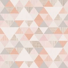 Vliesová tapeta na zeď IW3002, Inspiration Wall, Grandeco Inspiration Wall, Quilts, Blanket, Contemporary, Interior Design, Home Decor, Products, Wall Papers, Pink Triangle