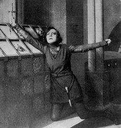 "Asta Nielsen as Prince Hamlet ""Nielsen's Hamlet was portrayed as a woman raised as a boy. """