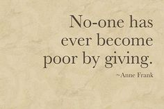 Giving.. is important