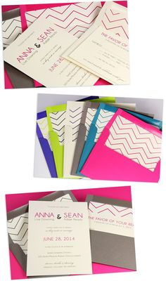 free wedding envelope templates | free chevron envelope liners and invite ... | DIY Wedding Projects ...