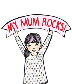 Mother's Day Card  My Mum Rocks  GIRL VERSION by ableandgame, $4.00