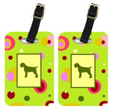 Pair of 2 Wirehair Pointing Griffon Luggage Tags