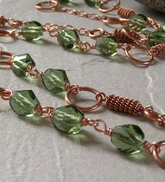 Necklace and Earring Set Wire Wrapped Solid by funkyfishgirl, Vancouver Island Etsy Team Member