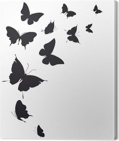 Mothers Day Drawings Discover butterflies design Canvas Print Pixers - We live to change Butterfly Painting Easy, Blue Butterfly Tattoo, Butterfly Tattoos For Women, Butterfly Drawing, Butterfly Design, Butterfly Outline, Butterfly Stencil, Shadow Painting, Easy Canvas Painting