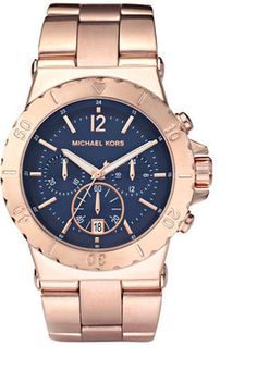 michael kors rose gold and navy blue, what i would give