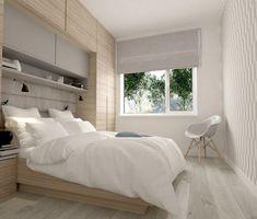 dressing pour petite chambre -mural-bois-clair-blanc