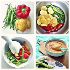 Green beans, red bell pepper & potato purée  [6m+] Very simple and nutritious purée, I'd serve this at 6 months. Ingredients: -1/2 red bell pepper (not hot of course) – 3-4 potatoes – 1 big handful of green beans – Plant based oil All organic Method: 1. Peel the potatoes and steam everything for about …