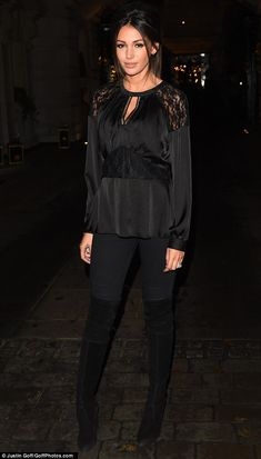 Woman In Black: Michelle Keegan cut a demure figure on Wednesday night at the Rosewood Hot...