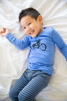 Skylar Luna Motorcycle pajamas for kids. Cute!