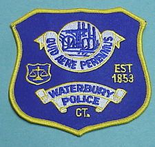 WATERBURY  CONNECTICUT  CT  EST. 1853   POLICE PATCH   FREE SHIPPING!!!