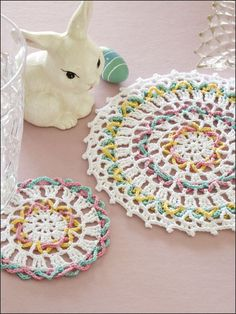 Crochet - Holiday & Seasonal Patterns - Easter Patterns - Easter Doily & Coaster
