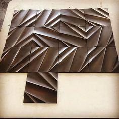 Folded tile grouping #tessellation #chilabdesign #wallcladding