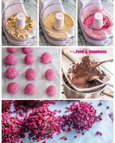 Easy and very impressive Valentine's day recipe - No Bake Raspberry Chocolate Truffles. Vegan and extremely decadent, made with natural ingredients only. Sweet raspberry filling inside a crunchy chocolate layer. Chocolate Filling, Chocolate Truffles, Chocolate Recipes, Chocolate Brownies, Cake Mix Recipes, Dessert Recipes, Snacks Saludables, Truffle Recipe, Raspberry Chocolate