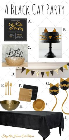 A black cat themed party!