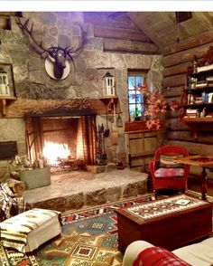 Now this is a cabin! #greylogs