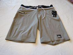 Quiksilver boardshorts 38 board swim shorts trunks Mens AG47 Everyday 38x20 Grey #Quiksilver #BoardShorts