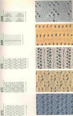 Foto: Lace Knitting Patterns, Lace Patterns, Knitting Designs, Stitch Patterns, Sewing Patterns, Knitting Basics, Knitting Charts, Knitting Stitches, Stitch Book