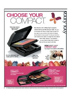 Hmmm....where to put all my new makeup...a compact of course and Mary Kay has three to choose from!  :)  www.marykay.com/hngenz or www.facebook.com/marykay.hngenz