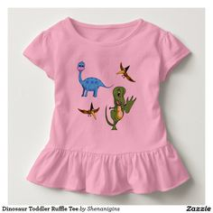 Dinosaur Toddler Ruffle Tee
