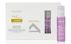 SHINE TREATMENT An intensive leave-in treatment that restores natural shine to all hair types. This concentrate adds body & flexibility and delivers visible results from the first application.   USAGE INSTRUCTIONS Apply the content of one vial to damp hair. Style as desired without rinsing.  SIZES 12 x 13ml vials