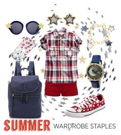 for summer stargazing by kc-spangler on Polyvore featuring H&M, G-Star Raw, Converse, Tory Burch, Sophie and Freda, Marc by Marc Jacobs, Karen Walker, Casetify, red and stars