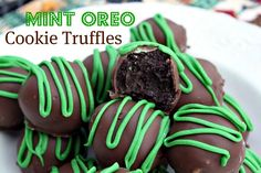 Mommy's Kitchen - Country Cooking & Family Friendly Recipes: Mint Oreo Cookie Truffles a must for my Holiday Cookie Tray. #hoidaybaking #christmas