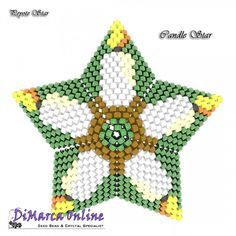 FREE E-TUTORIAL Candle 3D Peyote Star (download link per e-mail) - DiMarca Online