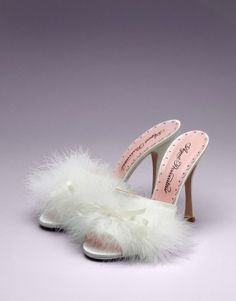 Agent Provocateur White Marabou Feather Loleata Bedroom Mules Bedroom  Heels 1defebd1a