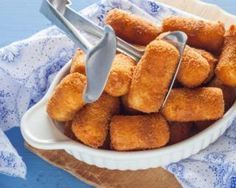 Baked croquettes of lightly baked potato potatoes: www. Veggie Recipes, Cooking Recipes, Healthy Recipes, Healthy Food, Beignets, International Recipes, I Love Food, Soul Food, Finger Foods