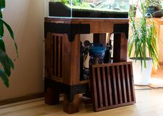aquarium stand in raw industrial style page 14