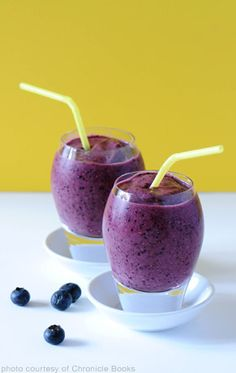 Blueberry Brain Boost Smoothie (leave out the walnuts)...for those heavy days at school