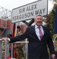 Former Manchester United manager Sir Alex Ferguson was awarded the Freedom of the Borough of Trafford on 14 October 2013 and had a road renamed in his honour. I Love Manchester, Official Manchester United Website, Manchester United Football, Man Utd Fc, Man Utd News, Sir Alex Ferguson, Football Is Life, Old Trafford, Man United
