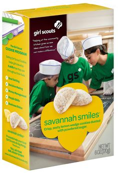 Savannah Smiles new box front! Girl Scouts NorCal's next Cookie Program will be Feb. 9-March 16, 2014! Stay tuned to www.iLoveCookies.org for more!