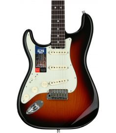 3-Tone Sunburst Fender American Elite Stratocaster, Rosewood, Left-handed   3-Tone Sunburst Fender American Elite Stratocaster Fender American, Fender Guitars, Left Handed, China, Porcelain