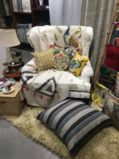 botanical neutral stripes geometrics woven printedall under home furnishing storessoft