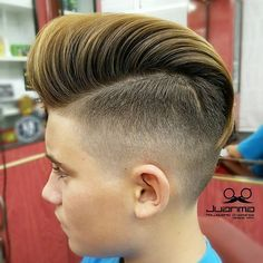 Long Top Short Sides Hairstyle For Boys