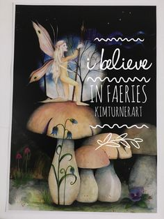 A personal favourite from my Etsy shop https://www.etsy.com/au/listing/269648375/i-believe-in-fairies-faeries-fairy-art