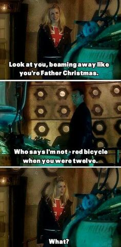 And now we all know he was totally making toys on Trenzalore. SANTA IS THAT YOU?