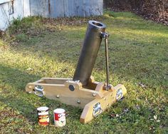 Soup Can Mortar Cool Homemade Weapons http://www.officiallyfun.com/2014/01/cool-homemade-weapons-23-photos/ humorl